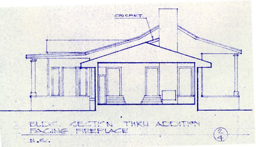 Cox plantation section view of restoration from blueprint malvernweather Gallery
